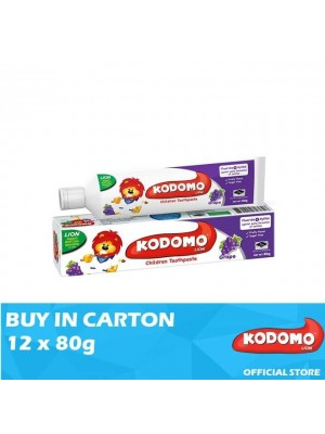 Kodomo Lion Toothpaste Grape Flavour 12 x 80g