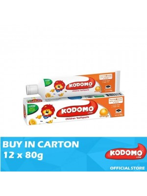 Kodomo Lion Toothpaste Orange Flavour 12 x 80g