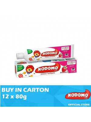 Kodomo Lion Toothpaste Strawberry Flavour 12 x 80g