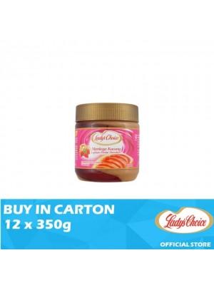 Lady's Choice Peanut Butter Strawberry Stripe 12 x 350g