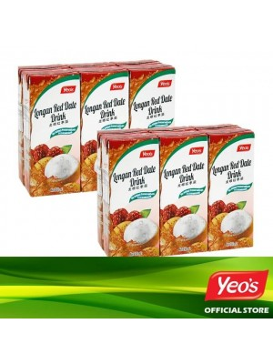 Yeo's Longan Red Date Drink Pack 2x6x250ml