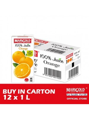 Marigold 100% Juice Orange 12 x 1L