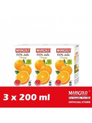 Marigold 100% Juice Orange 3 x 200ml