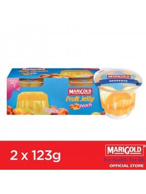 Marigold Fruit Jelly Peach Flavour 2 x 123g