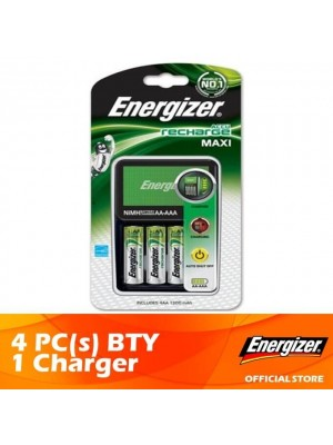Energizer MAXI Charger Recharge + AA 2000mAh Rechargeable Battery 4pcs 1 set