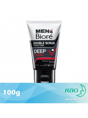 Men's Biore Double Scrub Deep Clean 100g