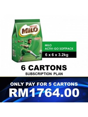 1) Nestle Professional Milo Activ-Go Softpack (6x3.2kg) Buy 5ctn Free 1ctn Subscription Voucher