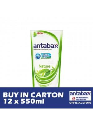 Antabax Anti-Bacterial Shower Gel - Nature 12 x 550ml