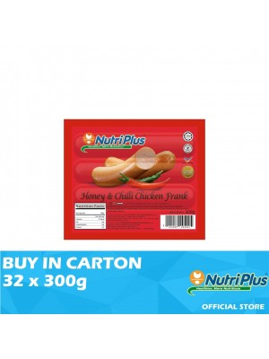 Nutriplus Premium Honey & Chilli Chicken Frank 32 x 300g
