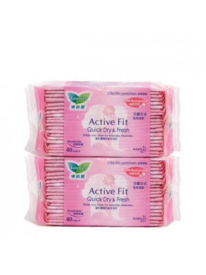 Laurier Pantyliner Active Fit - Fresh Floral Perfume (2x40s)