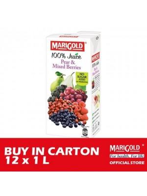 Marigold 100% Juice Pears & Mixed Berries 12 x 1L