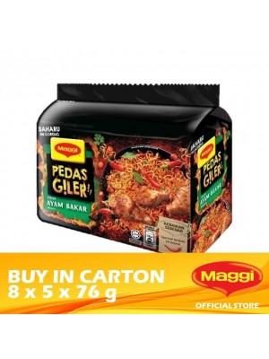 Maggi Pedas Giler Ayam Bakar Instant Noodle 8 x 5 x 76g