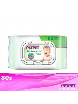PetPet Antibacterial Wipes 80s