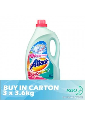 Attack Liquid Detergent Plus Colour (LATC) 3 x 3.6kg