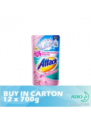 Attack Liquid Detergent Plus Softener (LATS) 12 x 700g