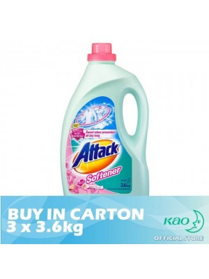 Attack Liquid Detergent Plus Softener (LATS) 3 x 3.6kg