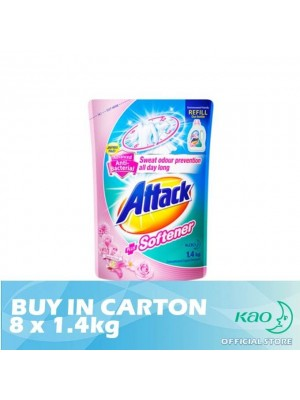 Attack Liquid Detergent Plus Softener (LATS) 8 x 1.4kg