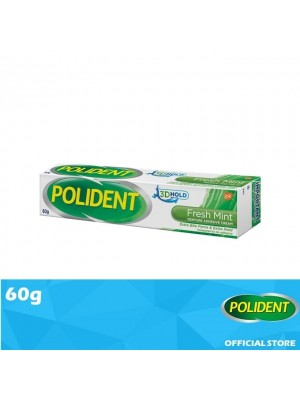 Polident Denture Adhesive Full & Partial False Teeth Fixative- Mint 60g