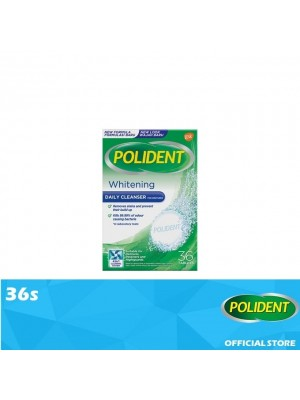 Polident Denture & Retainer Cleaning Tablets - Whitening Cleanser 36s