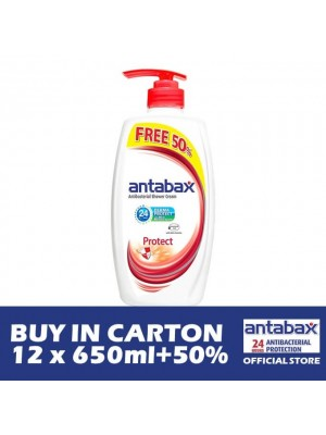 Antabax Anti-Bacterial Shower Gel - Protect 12 x (650ml + 50%)