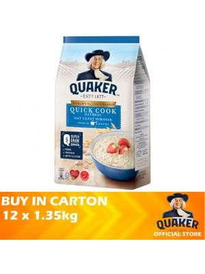 Quaker Oats Quick Cook Oatmeal 12 x 1.35kg