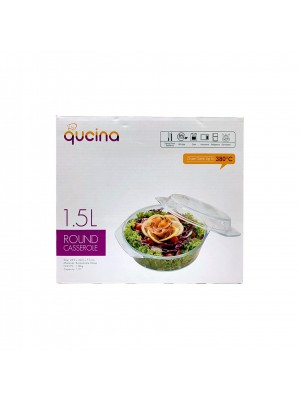 Qucina Round Casserole With Lid 1.5L [MUST BUY]