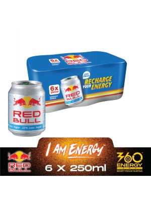 Red Bull Less Sugar (6in1) 6 x 250ml
