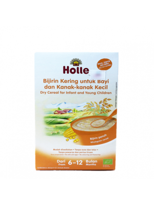 Holle Dry Cereal for Infant and Young Children (From 6 to 12 months) - Rice,Corn & Millet 250g
