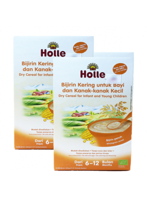 Holle Dry Cereal for Infant and Young Children (From 6 to 12 months) - Rice,Corn & Millet 2x250g