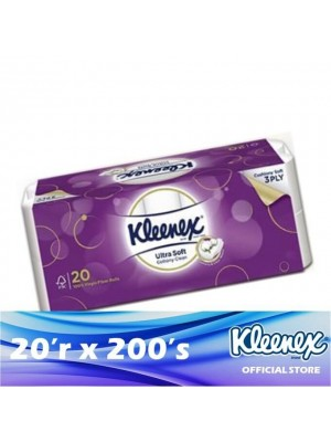 Kleenex Clean Care 3ply Ultra Soft Cottony Clean 20'r x 200's