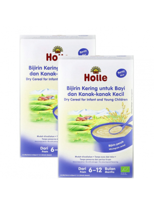 Holle Dry Cereal for Infant and Young Children (From 6 to 12 months) - Rice 2x250g