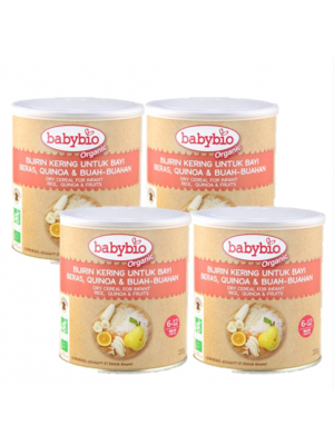 Babybio® Dry Cereal for Infant (Rice, Quinoa & Fruits) 4x220g