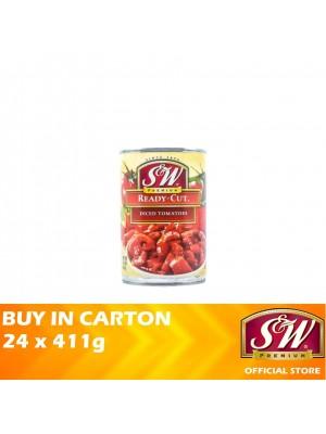 S&W Ready-Cut Diced Tomatoes 24 x 411g