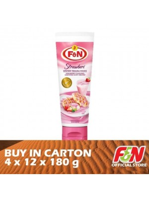 F&N Sweetened Condensed Strawberry Tube Milk 4 x 12 x 180g