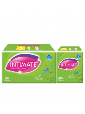 Intimate Slim Pantyliner 40 pcs + 20 pcs (Value Pack)