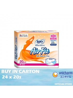 Sofy Air Fit Extra Slim 0.1 Day Wing 23cm 24 x 20s
