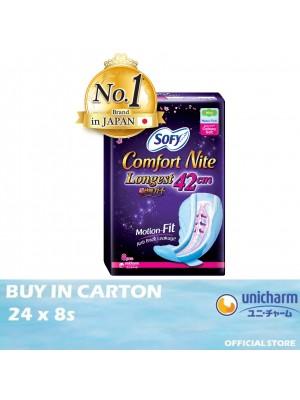Sofy Body Fit Comfort Night Wing 42cm 24 x 8s