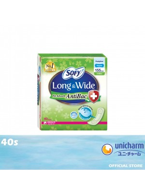 Sofy Long & Wide Fit Absorb Liner AntiBac 40s