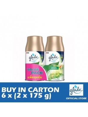 Glade Auto Spray Morning Freshness Refill 6 x (Twin-Pack 2 x 175g)