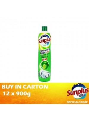 Sunplus Dishwash (Lime) 12 x 900ml