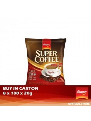 Super Coffee 3 in 1 - Regular 8 x 100 x 20g