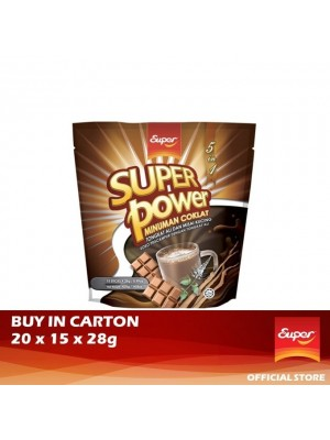 Super Power 5 IN 1 Chocolate Drink - Tongkat Ali, Misai Kucing 20 x 15 x 28g