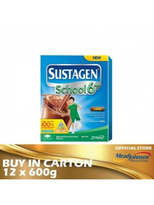 Sustagen School 6+ Chocolate 12 x 600g