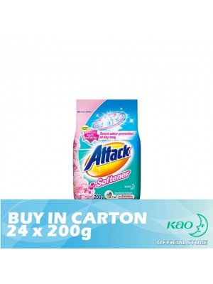 Attack Powder Detergent Plus Softener Sweet Floral (ATS) 24 x 200g
