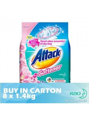 Attack Powder Detergent Plus Softener Sweet Floral (ATS) 8 x 1.4kg