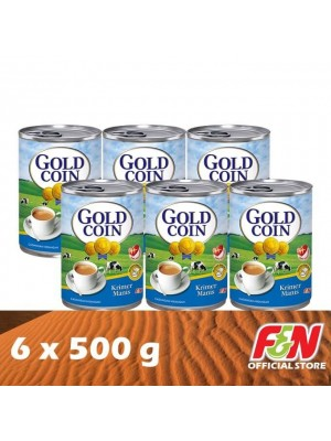 F&N Gold Coin Sweetened Condensed (EOE) 6 x 500g