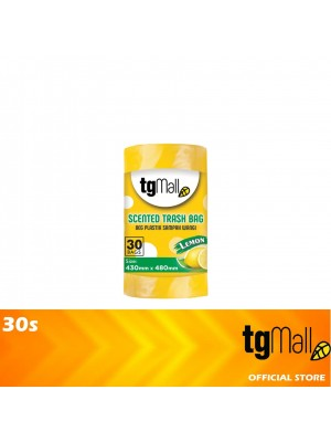 TG Mall HDPE Yellow Garbage Bags Trash Bags with Lemon Scented Small 30s