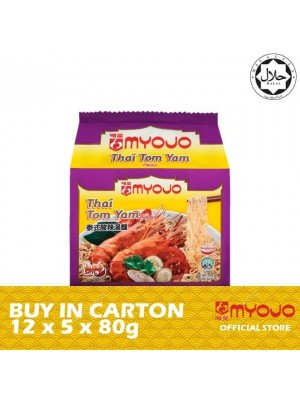 Myojo Noodles Bag - Thai Tom Yam 12 x 5 x 80g [HALAL]