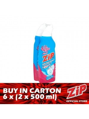 Zip Toilet Bowl Cleaner - Floral 6 x (Twin-Pack 2 x 500ml)