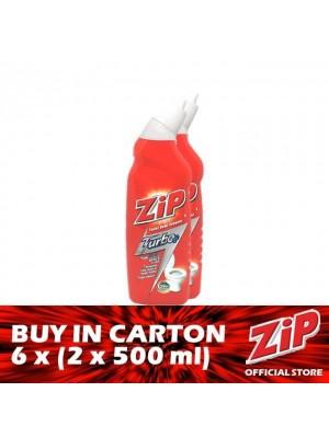 Zip Toilet Bowl Cleaner - Turbo Plus 6 x (Twin-Pack 2 x 500ml)